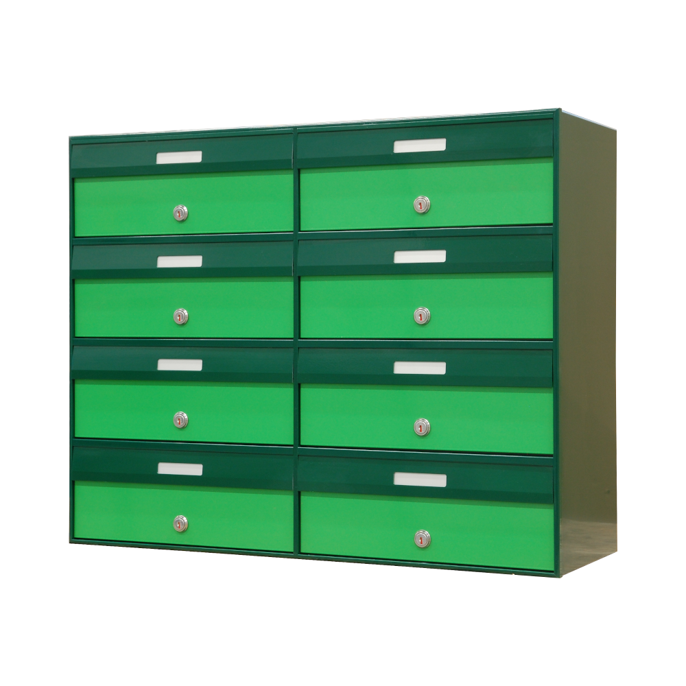 cassette postali esterno verde 8 posti